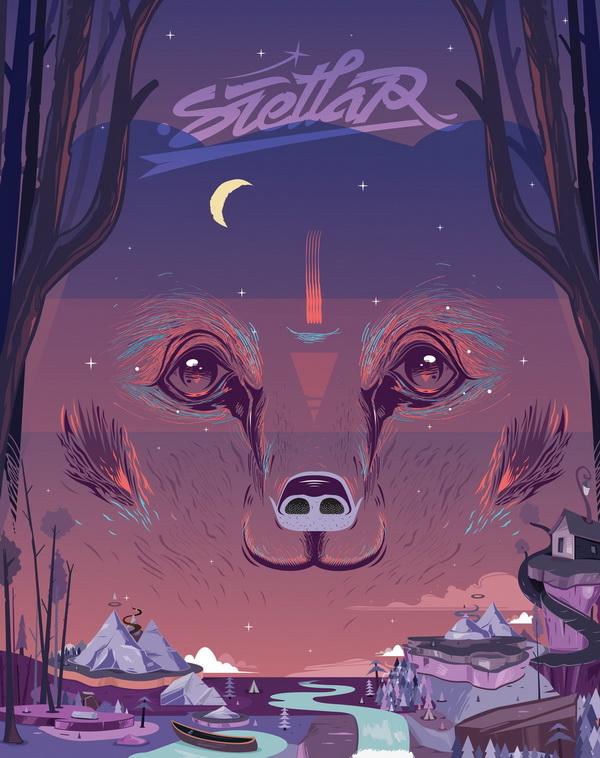 48 x 38 Stellar bear