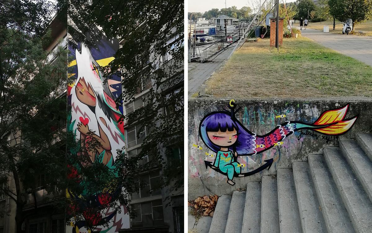 Julietta XLF, mural u Knez Miletinoj i quick piece na Zemunskom keju