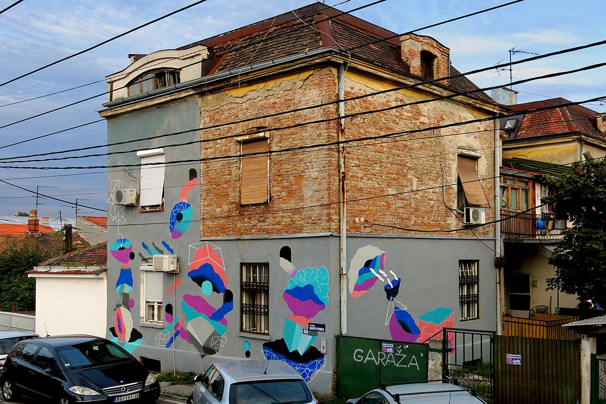 Rekonstrukcija, Tifani Rubi, mural u Dobracinoj 68