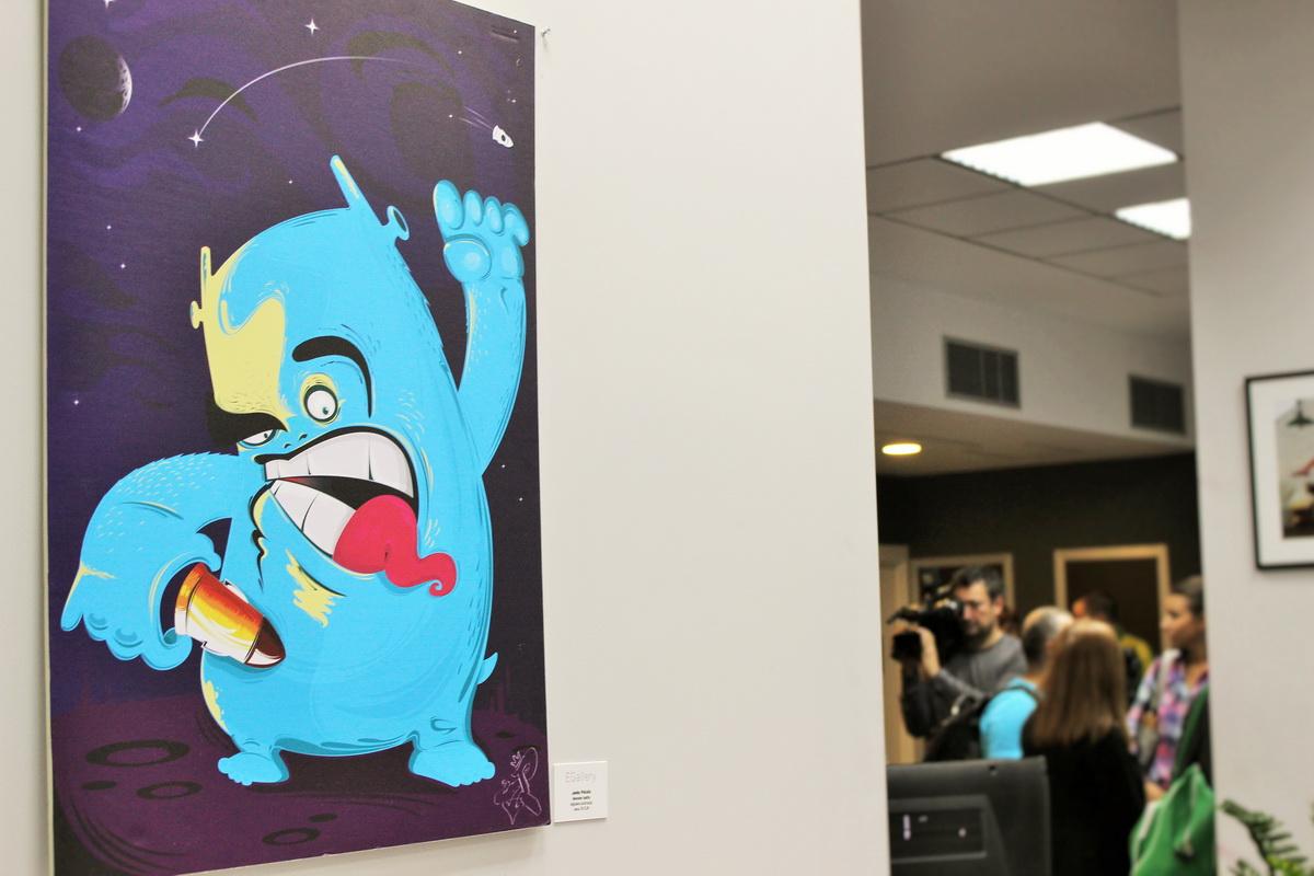 Graffiti office Junk Monster
